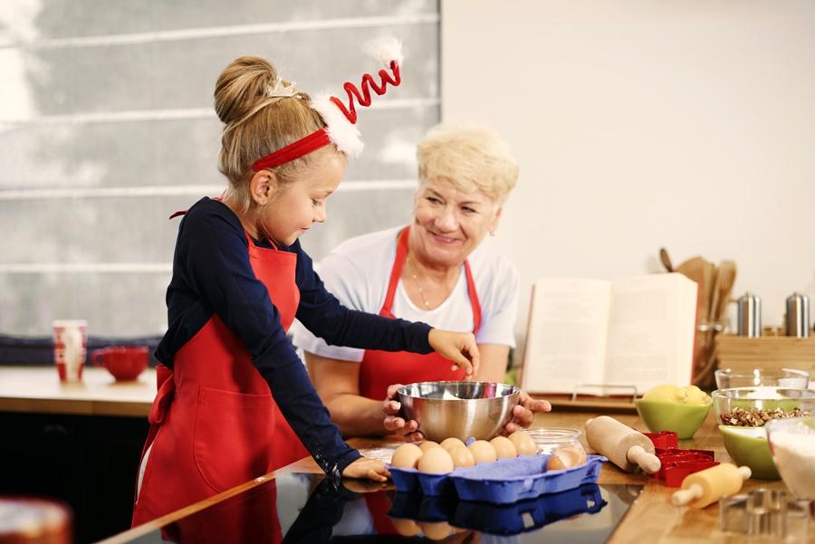 Karácsonyi sütikészítés a nagyival