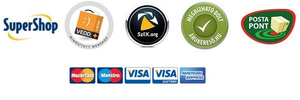 f642190777 Bankkártyás fizetés, utánvételes fizetés, MasterPass digitális pénztárca  fizetési lehetőségek állnak a vásárlók rendelkezésére és még SuperShop  pontokkal is ...